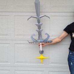 20201027_134658.jpg Download OBJ file Runescape Godsword Life Sized + Keychains OSRS • Object to 3D print, Wychu