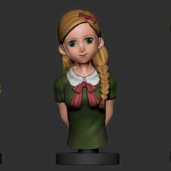 animegirl.jpg Download free STL file Anime Girl • 3D print model, DLART91