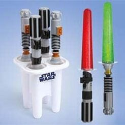 30f32db39371e7ff1ed3819182d7fd79_preview_featured.jpg Download free STL file Lightsaber Popsicle (Summer Is Here 1) • Object to 3D print, MuSSy