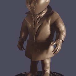 rorschack.PNG Download free STL file Rorschach Watchmen Chibli • Object to 3D print, o4saken