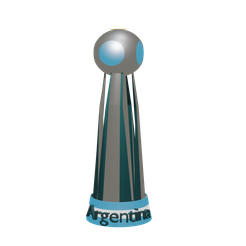 copaarg.png Download STL file Remake Copa Argentina • Design to 3D print, Rauul19