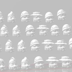 display 1.2.jpg Télécharger fichier STL gratuit 28mm Lords of Ruin Scifi Vietnam Heads Pack • Modèle pour imprimante 3D, Valiant_Armory