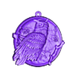 Owl pendant medallion jewelry.obj Download free OBJ file Owl pendant medallion jewelry • 3D printing design, Cadagency