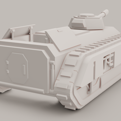 Pallas V2.png Download free OBJ file Epic 40k Imperial Guard Pallas (double chimera) large transport • 3D printing template, christopherlemagnen