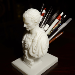 Capture d'écran 2017-09-18 à 11.03.09.png Download free STL file Julius Caesar (Improved) Pen/Pencil Holder • 3D printer model, derailed