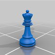 Queen_real_size.png Download free OBJ file Ajedrez • 3D printing object, Lubal