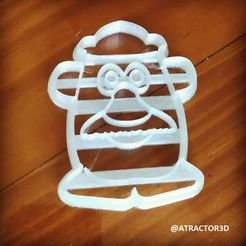 CARAPAPA.jpg Download STL file CUTTING AND DETAILING Mr POTATO HEAD CUTTING AND DETAILING FACE • 3D print object, atractor3d