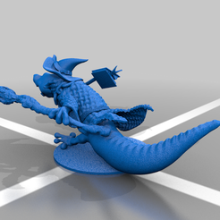 lizwiz4.png Download free STL file Lizard wizard • 3D printable model, nahojjjen