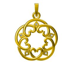 PD25151 - Copy.jpg Download STL file Jewelry 3D CAD Model For Heart Design Pendant • 3D printing object, VR3D