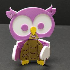 FlexiOwl_1.jpg Download free STL file Flexi Articulated Owl • 3D printing template, fixumdude