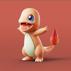 Charmander_Fire_0.jpg Descargar archivo STL Pokemon - Charmander • Plan para imprimir en 3D, MarProZ_3D