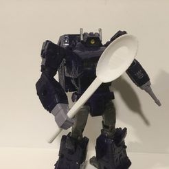 Comically Large Spoon for Transformers Figures, IronChicken