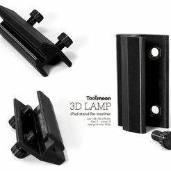 pad2.jpg Download free STL file iPad stand for monitor • Object to 3D print, Toolmoon