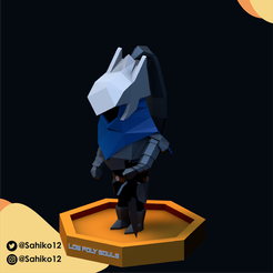 LOW POLY SOULS insta-03.png Download STL file Low Poly Souls - Artorias of the Abbys • 3D printing object, Sahiko12