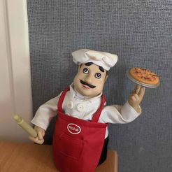photo.JPG Download free STL file Pizza chef • Model to 3D print, Design3DPrinting