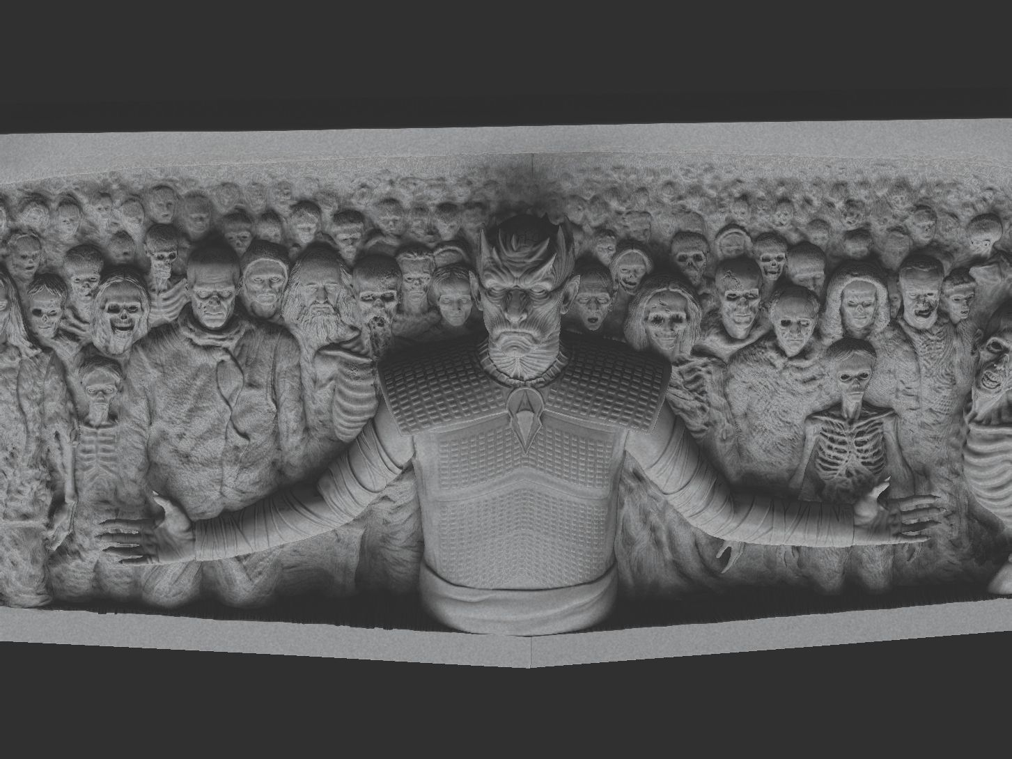 ZBrush Docu666ment.jpg Download STL file Game of Thrones - Night King - Hardhome Relief • 3D printing model, brkhy