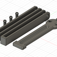 Model Pic.png Download free file Heavy Balisong Trainer (B-Knife Trainer) • 3D print object, Serial