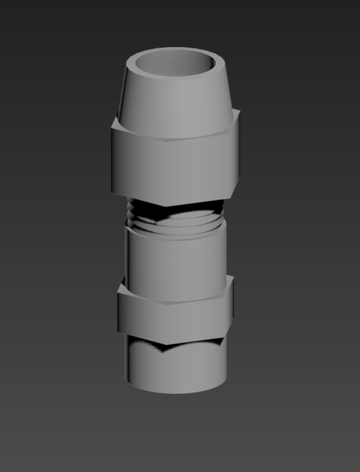 1s.png Download STL file Boba Fett ROTJ Gauntlet hose connector • 3D printing template, NewCraft3D