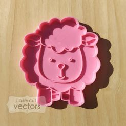 OVEJA.jpg Download STL file sheep cookie cutter, cutter. Sheep cookie cutter. Sheep cookie cutter • 3D printable template, LasercutVectors