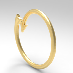 yyh.PNG Download free STL file arrow ring / arrow ring • Design to 3D print, allv