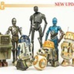 small_preview_droidsupdate2.jpg Download free STL file Star Wars Legion Scale Droid pack. • 3D printer object, XisPina