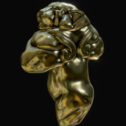 Guennol_image.png Download STL file Guennol Lioness • 3D printable template, JuanG3D