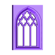 stone_window.stl Download free STL file Gothic Stained Glass Window • Object to 3D print, Girthnath