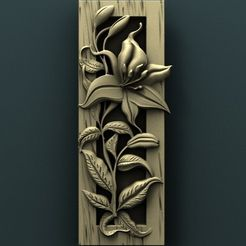 937. Panno.jpg Download free STL file Floral wall panel • 3D printing template, stl3dmodel