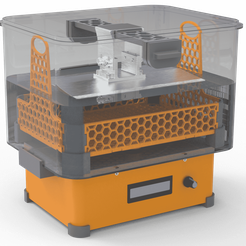1-min.png Download free STL file Clean and cure station for your resin prints • 3D print template, jeremyV