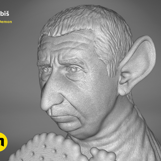 Babis_wire-Studio-1.1009.png Download OBJ file Hrabis - Caricature of Czech premier • 3D print object, 3D-mon