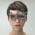 carnival _mask_20_01_0003.png Download STL file Carnival Mask Collection 7 pieces Masquerade facewear • 3D print template, polygonface