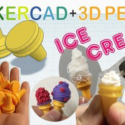 a48932f04ee37f34f5a11245ab73ba01_display_large.jpg Download free STL file Ice Cream with Tinkercad +3D pen • 3D printing design, Eunny