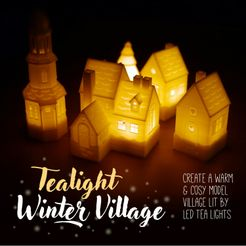 tealight winter village header.jpg Descargar archivo STL La Aldea de Invierno de Tealight • Modelo imprimible en 3D, tone001