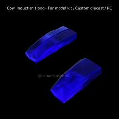 New-Project-2021-08-21T165711.525.png Download STL file Cowl Induction Hood - For model kit / Custom diecast / RC • 3D print model, ditomaso147