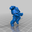 3_Normal_1.png Download free STL file Angelic Space Soldiers with Heavy Weapons • Template to 3D print, PhysUdo