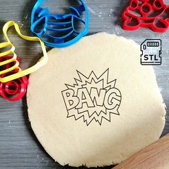 bang_etsy.jpg Download STL file Bang Comic Text Cookie Cutter • Design to 3D print, Cookiecutterstock