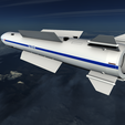 02.png Download 3DS file Vympel R37 Missile • Model to 3D print, SimonTGriffiths