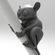 Capture d'écran 2017-06-20 à 17.29.39.png Download free STL file Tarsier - Pencil Decor • 3D printing design, meshtush