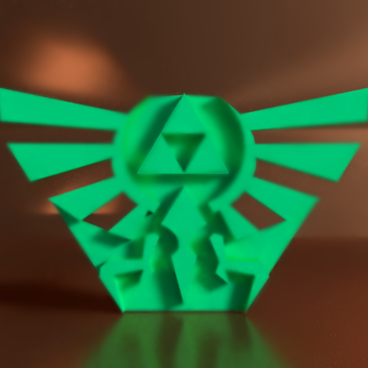 Difumined Demo.png Download STL file Triforce NO COLOR for Printing Legend Of Zelda • Object to 3D print, Axsajim