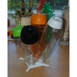 b03e8607ce796eca60611dad17c6baa4_preview_featured.jpg Descargar archivo STL gratis Soporte de secado cuádruple para botellas PET SodaStream • Modelo imprimible en 3D, dede67