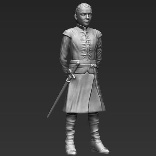 arya-stark-game-of-thrones-ready-for-full-color-3d-printing-3d-model-obj-stl-wrl-wrz-mtl (19).jpg Download STL file Arya Stark ready for full color 3D printing • 3D print template, PrintedReality