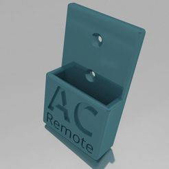 75358-rendered-152695_gi.png Download free STL file Remote Controller Holder for Haier AC Unit • 3D print template, LiLRichy