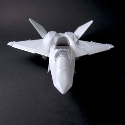 yf-23 - akhir - depan - IMG_2613 copy.jpg Download STL file Northrop YF-23 Black Widow II scale 1:72 • Template to 3D print, heri__suprapto