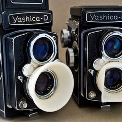 yashicahood1.jpg Download free STL file Yashica D Lens Hood • Template to 3D print, Urgnarb