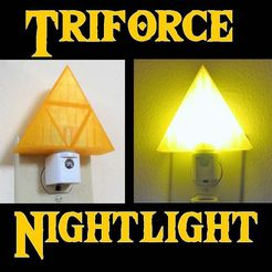 Triforce_Nightlight.jpg Download free STL file Zelda Triforce Nightlight • 3D printing template, mechengineermike