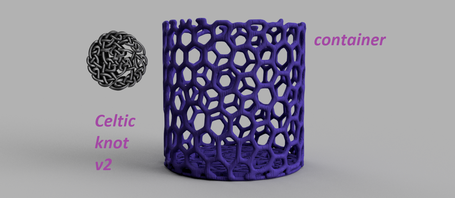 celtic knot 2 pic.png Download free STL file Celtic knot container v2 • 3D print object, IdeaLab