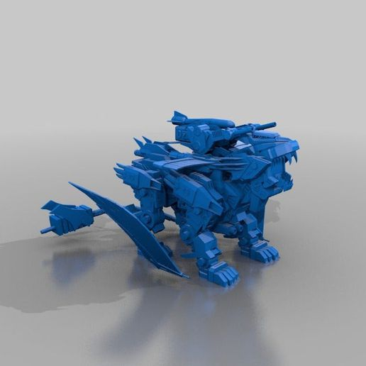 72c617cda7c8980337cf877bde265455_display_large.jpg Download free STL file Zoids: Phoenix liger • 3D print design, Peanut3DButter