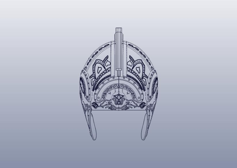 16.jpg Download STL file Theoden Helmet • 3D printable object, 3Agraphic