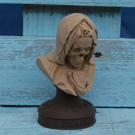 santa-muerte-kexcelled-wood-PLA.jpg Download free STL file Santa Muerte (easy print) • 3D printing object, topedesigns