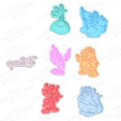 Screenshot_3.jpg Télécharger fichier STL Disney cartoon misc cinderella cookie cutter set of 7 • Plan imprimable en 3D, roxengames